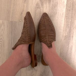 Free People leather flats brown sandals
